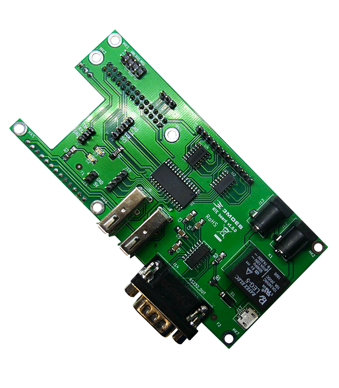 Remote testing environment a hat designed for Orange Pi Zero board