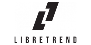 Libretrend company logo, L and T letter creating shifted rectangle