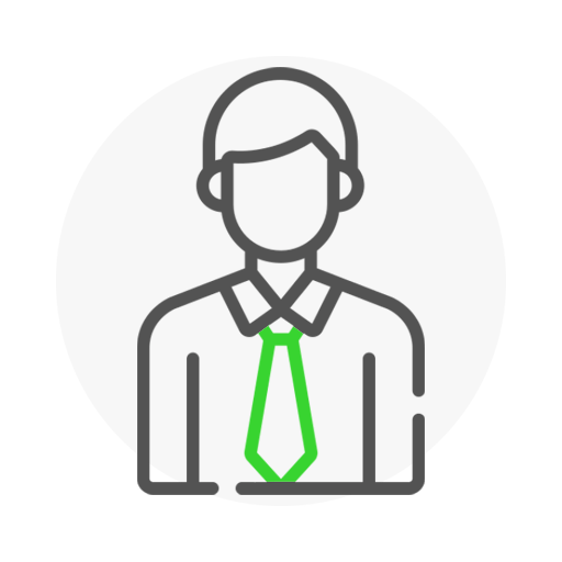 Icon representing 3mdeb's customer with a tie
